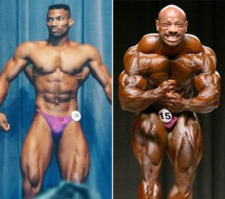 تصاویر قبل و بعد قهرمانی دکستر جکسون