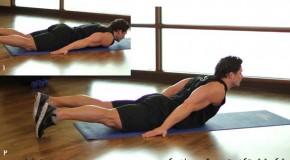تمرین قوس دادن کمر – شکم شش تکه