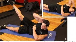 تمرین تاشدن به پهلو – شکم شش تکه