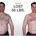 کاهش وزن قبل و بعد شماره 45 دکتر فیت