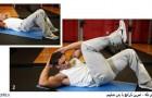 تمرین کرانچ با بدن صلیبی – شکم شش تکه