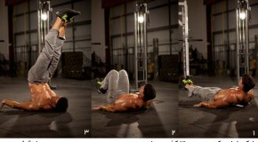 تمرین بالا کشیدن پایین تنه – شکم شش تکه