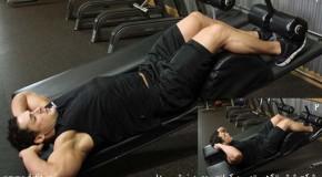 تمرین کرانچ روی میز شیب دار – شکم شش تکه