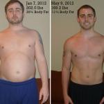 کاهش وزن قبل و بعد شماره 33 دکتر فیت